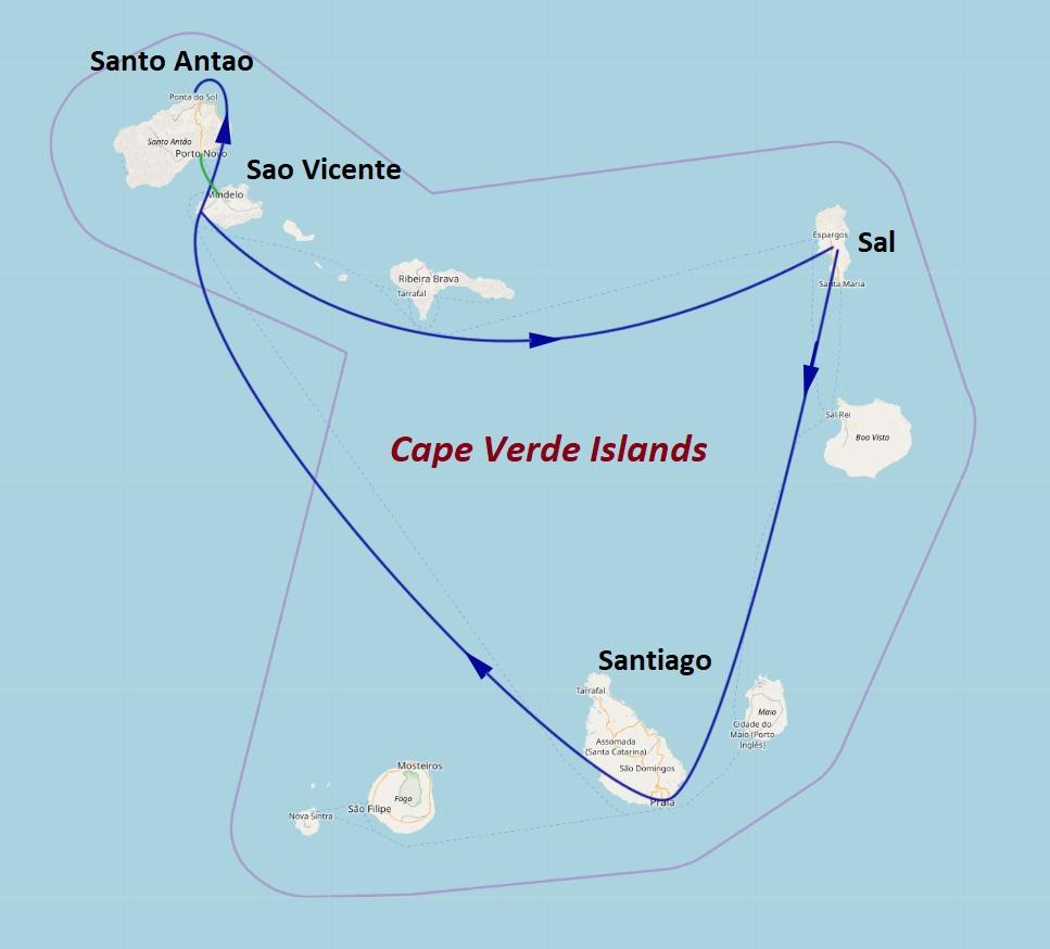map of cape verde islands